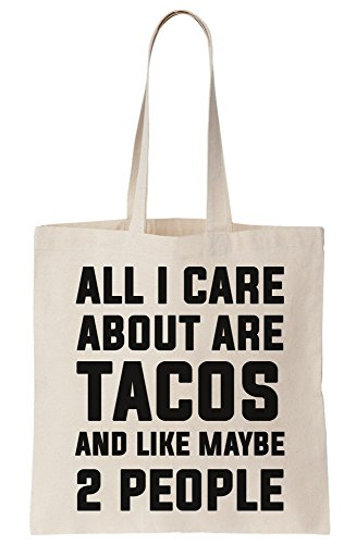 2 Bag Are I Maybe All People Tacos Canvas And Like Tote About Care FRWqf