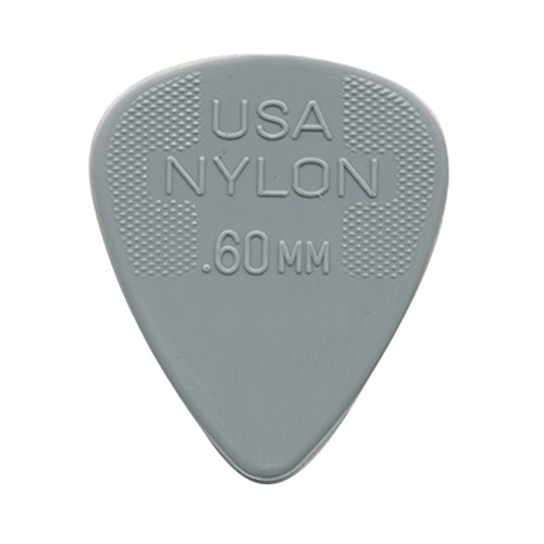 Dunlop 44R.60 Nylon Standard, Light Gray, .60mm, 72/Bag (Guitar Pick Usa)