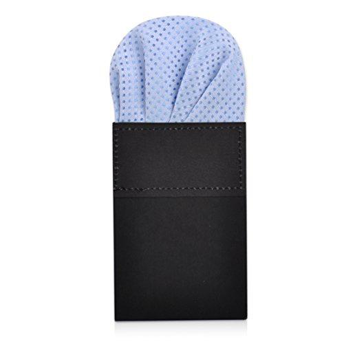 Men's Pre Folded Polka Dot Pocket Square Sky Blue Handkerchief Hanky on ()