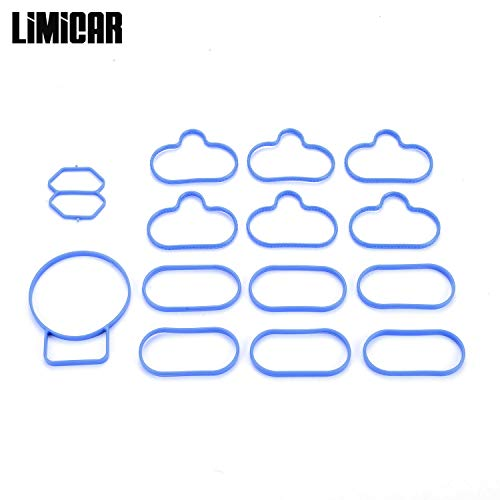 - LIMICAR Engine Intake Manifold Gasket Set MS96124 Compatible with 2001 2002 2003 2004 Mazda Tribute Ford Escape 3.0L V6