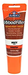 Elmer's E855 Carpenter's Wood Filler, 3.25-ounce Tube, White