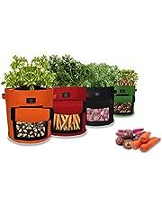 Laxllent Sacs de Plantation de Jardin,Sac de Legumes, Tissu Non-tissé Sac de Plantation de Pommes de Terre à Fenêtre