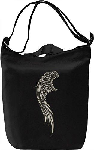 Wing Borsa Giornaliera Canvas Canvas Day Bag| 100% Premium Cotton Canvas| DTG Printing|