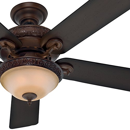 tional Ceiling Fan in Brushed Cocoa with Amber Gradated Cocoa Glass Light Kit, 5 Blade (Certified Refurbished) (Bowl Light Kit Cocoa)