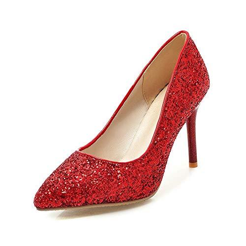 HOESCZS 2018 Marke Größe 32-43 32-43 32-43 Bling Frauen Schuhe Frau Slip auf dünnen High Heels Spitze Party Hochzeit Pumps, B07P6W5KQD Sport- & Outdoorschuhe Professionelles Design 7b8607