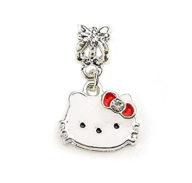 0b847e0702509 Hello Kitty Dangle Bead Charm Fits Pandora & European Style Bracelets
