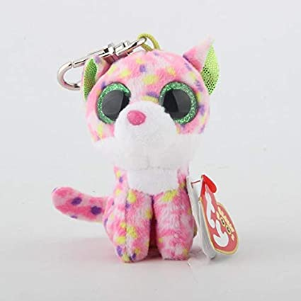4e9bd128f0d Image Unavailable. Image not available for. Color  WATOP Ty Beanie Boos Big  Eyes Plush Keychain Toy Doll Fox Owl Dog ...