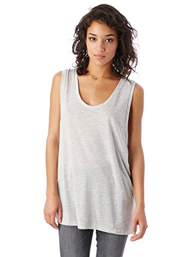 Alternative Women's Melange Jersey Cut Off Tank Top Oatmeal Heather Tank Top ()