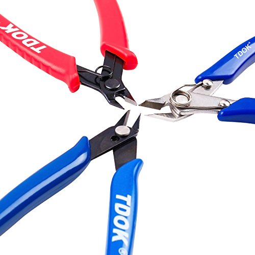 TDOK wire crimp flush cut pliers side cutting plier pin tools (Stainless Steel cutters) by TDOK (Image #5)