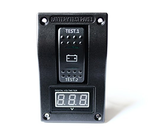 BANDC Voltmeter Battery Test Panel Rocker Switch Dpdt/on-off-on for Marine/boat/rv 5-30v Dc