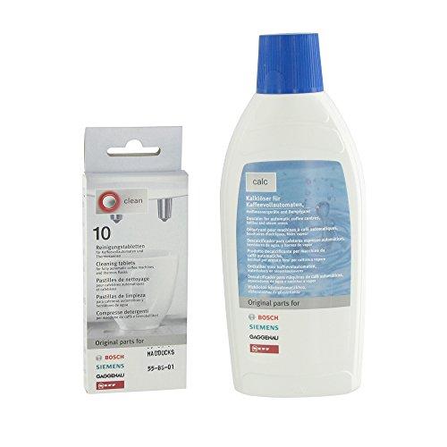 Kit de nettoyage Tablettes et Liquid Détartrant pour Bosch/Siemens