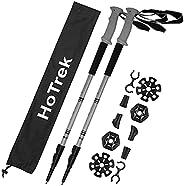 HoTrek Trekking Poles Hiking Poles - Telescopic Nordic Walking Poles Aluminum - 2 Pack Hiking Sticks with Quic
