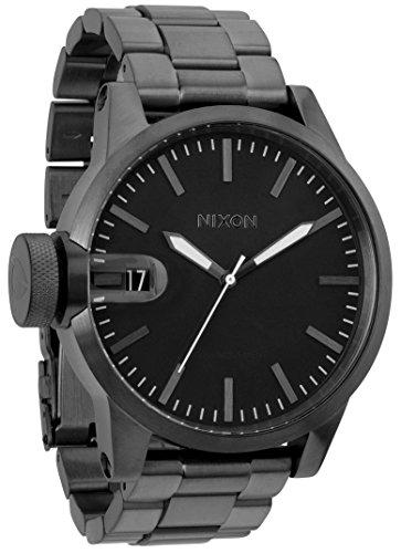 nixon-a198632-chronicle-ss-all-gunmetal-dial-metal-bracelet-men-watch-chronicle-ss-all-gunmetal