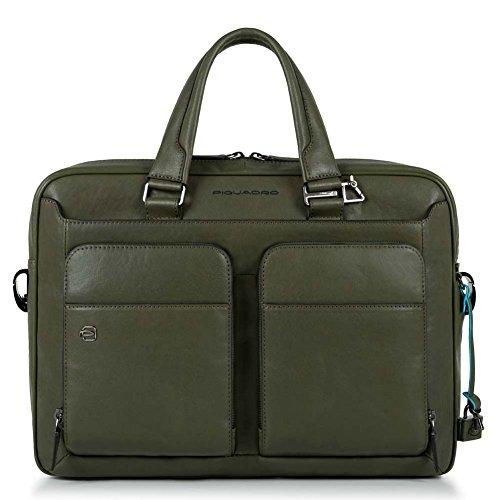Cartella Sottile con dispositivo CONNEQU Porta Pc/iPad®Air/Pro | Piquadro Black Square | CA2849B3-Verde