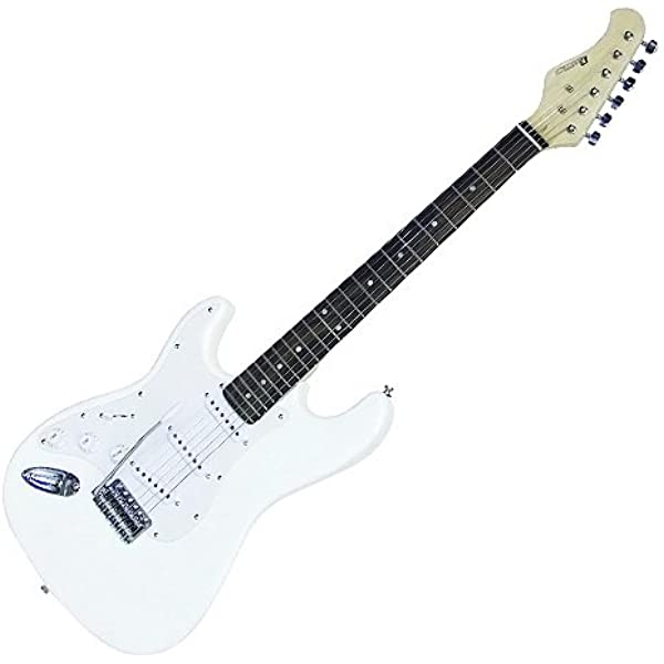 DIMAVERY 26211125 ST-203 E - Guitarra, Zurdo, Blanco: Amazon.es: Instrumentos musicales