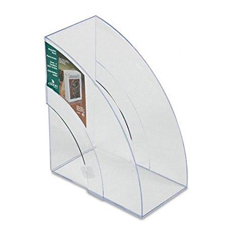 Rubbermaid : Optimizers Deluxe Plastic Magazine Rack, 5 1/4 x 9 x 11 1/8, Clear -:- Sold as 2 Packs of - 1 - / - Total of 2 Each