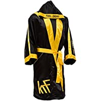 KRF Feel The Enemy 0013299 Bata competición de Boxeo, Hombre, Negro, M