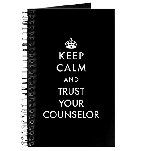 Cafepress   Keep Calm And Trust Your Counselor   Spiral Bound Journal Notebook  Personal Diary  Lined
