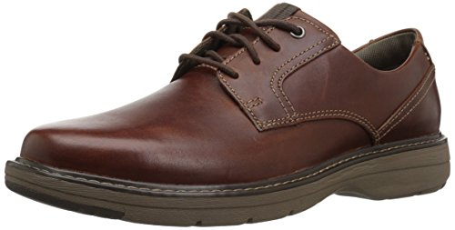 Clarks Men's Cushox Pace Oxford, Dark Tan Leather, 11 W US