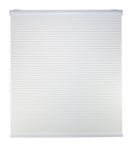 "DEZ Furnishings QCWT644480 Cordless 1"" Light Filter Cellular Shade, White, 64.5W x 48L"