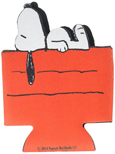 ICUP Peanuts Snoopy Dog House Diecut Huggie/Koozie, Clear