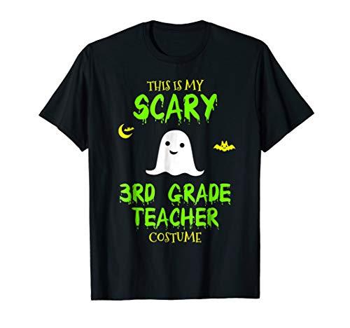 Mens Scary Third 3rd Grade Teacher Costume Halloween T-Shirt 2XL Black