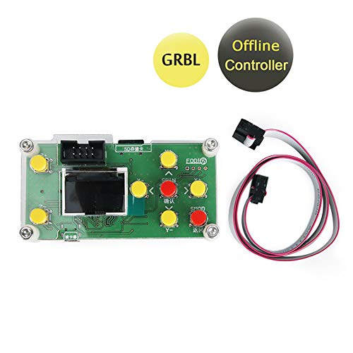 Offline Controller, CNC Router Offline Control Module Offline Working Remote Hand GRBL Controller LCD Screen for CNC Laser Engraving Milling Machine Wood Router ()