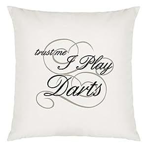 Trust Me I Jugar flechas Diseño almohada grandes con relleno