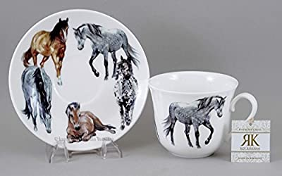 My Horses Breakfast Cup and Saucer By Roy Kirkham