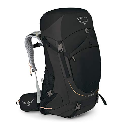 Osprey Packs Sirrus 50 Women's Backpacking Backpack, Black, Ws/M, Small/Medium