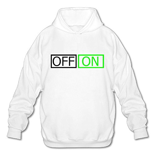 Men No Pocket Hoodies Funny Your Computer Is Off and On Casual Pullover Workout Hooded - State Chicago Shops Street On