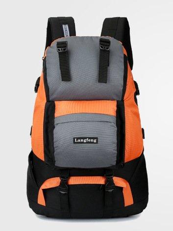 Mochilas de senderismo, bolsas, bolsas de senderismo, bolsas al aire libre, impermeable Mochila de viaje al aire libre senderismo bolsa bolso de viaje Outdoor montañismo hombres y mujeres hombros,amar Orange