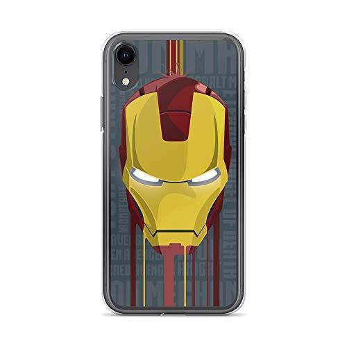 iPhone XR Pure Clear Anti-Shock Cases Iron-Man Face Armour Suit Tony-Stark Stan Lee Avengerss Movie Shield Comic Superhero]()