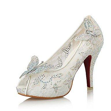 Sandalias De Mujer Zapatos Club Novedad Microfibra Synthetic Glitter Tul Boda Vestido De Noche &Amp; Stiletto Talón Bowknot Sequin Blanco Blanco Us5 / Ue35 / Uk3 / Cn34 US6.5-7 / EU37 / UK4.5-5 / CN37