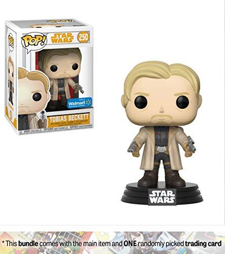 Funko Tobias Beckett (Walmart Exclusive): Solo - A Star Wars Story x POP! Vinyl Figure + 1 Official Star Wars Trading Card Bundle [#250 / 26978]