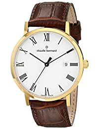 Claude Bernard Men's 80095 37J BR Classic Automatic Analog Display Swiss Automatic Brown Watch