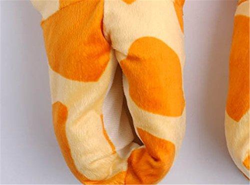 Japsom Unisex Accogliente Flanella Casa Mostro Pantofole Halloween Animale Costume Zampa Zampa Scarpe Cervi Modello