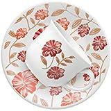 Conjunto com 6 Xícaras de Chá Biona Vermelho Amor Branco/Vermelho