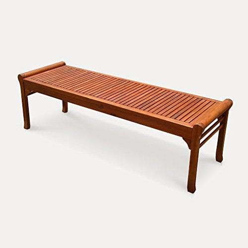 Outdoor Eucalyptus Wood 5-foot Backless Bench