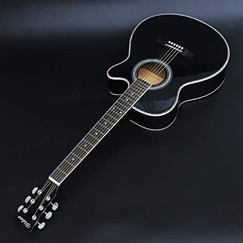 ACDOS 40-inch Acoustic Guitar Matte Black Cutaway Basswood Guitar Starter Beginner Guitar (Color : Dumb Black Size : 40 inches) / ACDOS 40-inch Acoustic Guitar Matte Black Cutaway Basswood Guitar Starter Beginner Guitar (Color : Du...