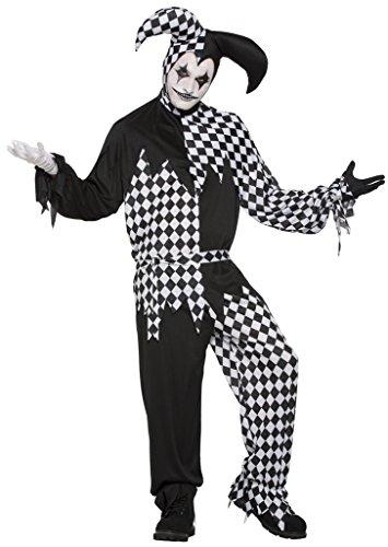 Forum Novelties Dark Jester Costume - Standard - Chest Size up to 42 -