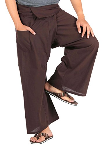 CandyHusky Mens Lightweight Cotton Thai Fisherman Pants Summer Hippie Yoga Pants