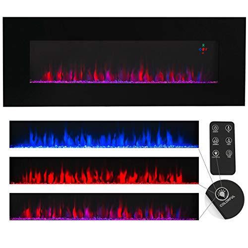 Cheap CoziNest Contemporary Electric Fireplace Black 50
