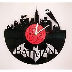 Batman 12 Handmade Vinyl Record Wall Clock Dark Knight Hero Arkham City DC Comics Movie Characters - Get unique home room wall decor - Gift ideas for parents, teens - Epic Movie Unique Modern Art ...