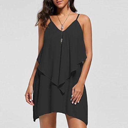 SANFASHION Bekleidung - Vestido - Trapecio o Corte en A - Sin Mangas - para Mujer Negro 42 EU: Amazon.es: Ropa y accesorios