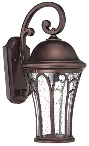 Acclaim 39512ABZ Highgate Collection 1-Light Outdoor Light Fixture Wall Lantern, Architectural Bronze