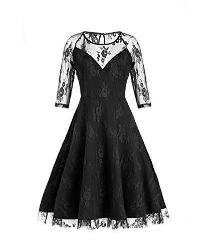 Dear-Queen Net Yarn Splicing Round Collar Cultivate One's Morality Dress DQCD1553B-2XL