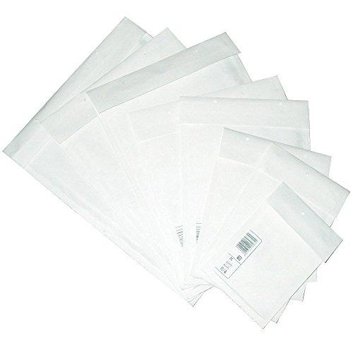 100x Luftpolstertaschen Versandtaschen C/3 170 x 225 mm Luftpolsterumschläge Trifix Verschluss Haftklebend Weiss