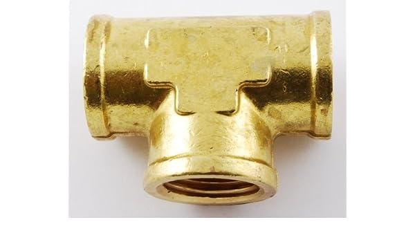 1//8 NPT Female Thread Three Sided Tee T Union Fitting Brass
