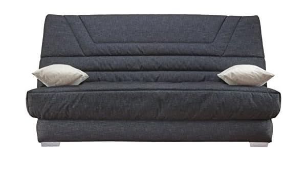 Destock Meubles Banqueta para sofá Cama Tela Gris colchón ...